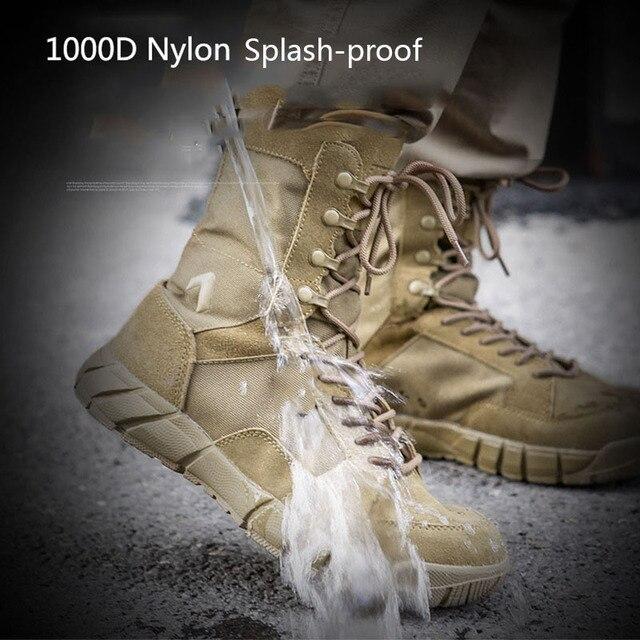 Botas t cticas militares para hombre calzado de nailon 1000D impermeable transpirable antideslizante a prueba de