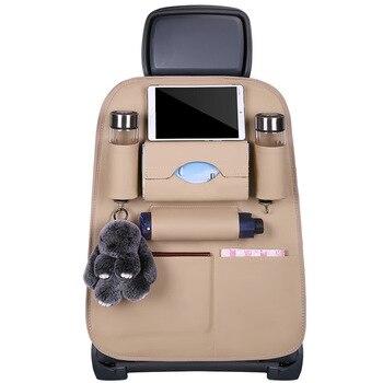 Car Seat Back Storage Organizer Bag Multi-Pocket   Hand-stitched Car  For Mercedes Benz Viano 2006-2011 Vito 2010-2015