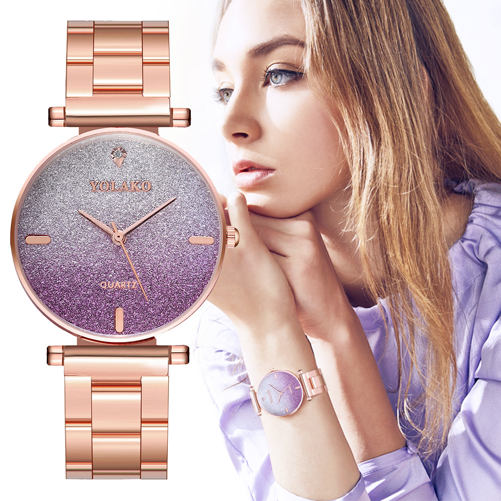 Fashion Colorful Watch Women Quartz Watch Luxury Lady Rhinestone Women's Wrist Watches Female Dress Clock Xfcs Relogio Feminino