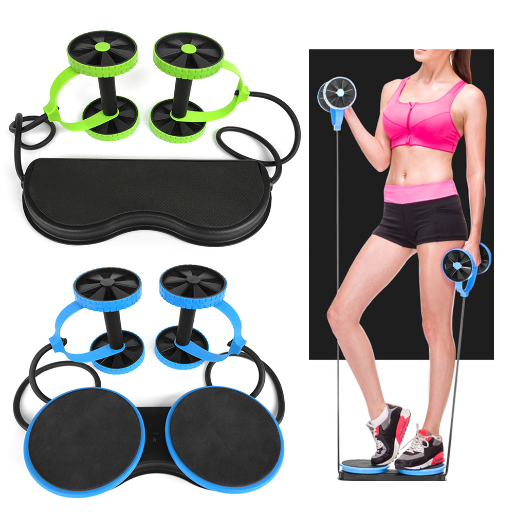 Abs Trainer Wheel Multi-Function Fitness Abdominal Muscle Trainer Roller Inc Bag
