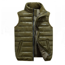 Autumn and winter new thick cotton  casual vest young mens jacket trend large size leisure