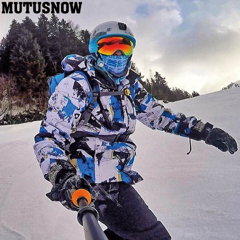 2019 New Men Ski Jacket Ski Pants Winter Warm Windproof Waterproof Outdoor Sports Snowboarding Brands Ski Coat Trousers Ski Suit