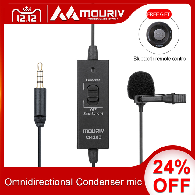 3.5mm Omnidirectional Condenser microphone with USB adapter Compatible with PC & Smartphones, Camera,Camcorders Podcast YouTube