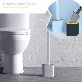 Trench Toilet Brush Household Long Handle Soft Bristles Cleaning And Decontamination TPR Toilet Brus