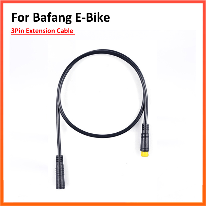 male to male Ebike Accessories 3Pin Waterproof Extension Cable For Bafang Mid Drive Motor Suitable for Expand Gear Sensor Thumb Throttle Brake Lever