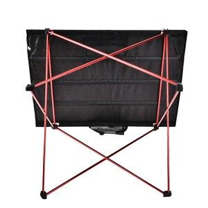 Image 3 - 屋外家具のテーブルレッド折りたたみテーブルライト色重量超軽量デスク釣りテーブル現代の折りたたみ家具