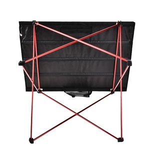 Image 3 - Outdoor Furniture Table Red Folding Camping Table Light Color Weight Ultralight Desk Fishing Tables Modern Foldable Furniture