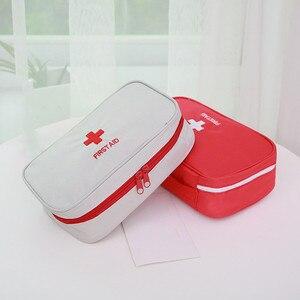 Image 2 - 휴대용 응급 처치 키트 응급 가방 방수 자동차 키트 가방 야외 여행 생존 키트 빈 가방 23*13*7.5cm