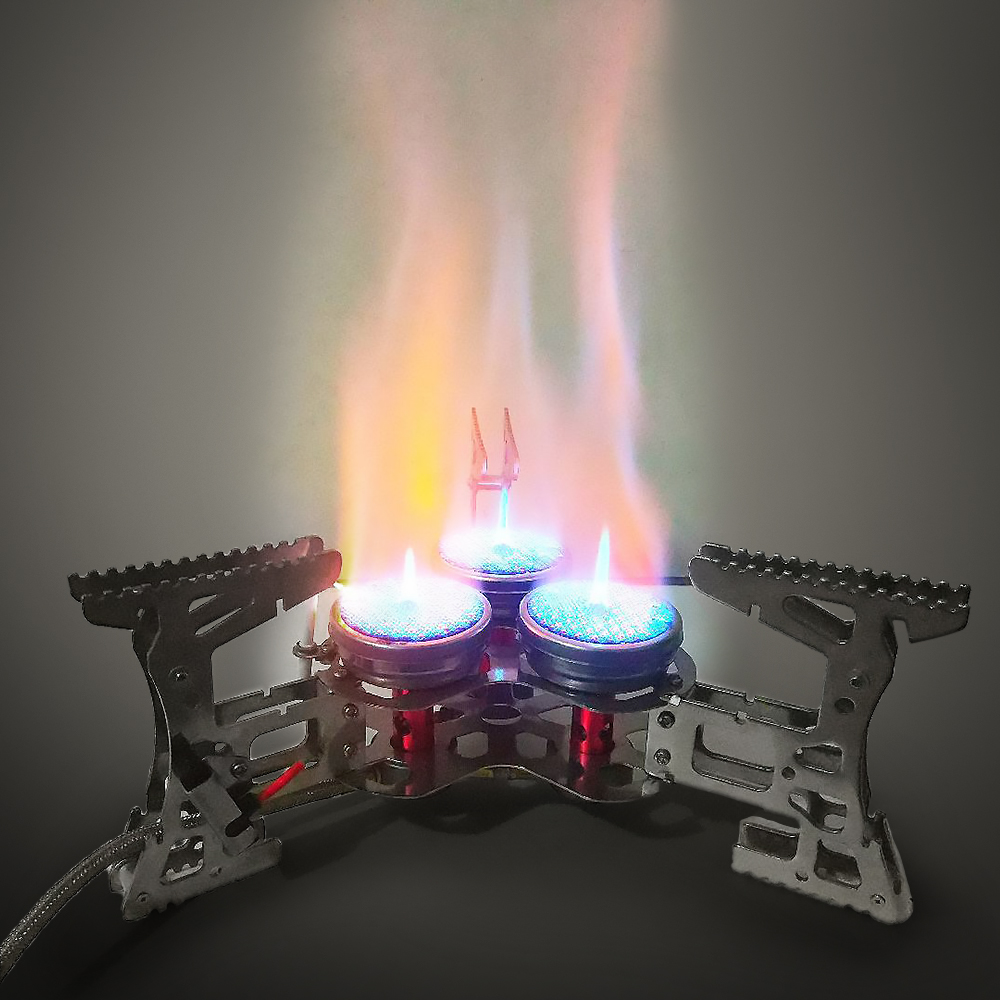 Lixada 8000 Вт портативная газовая плита наружная ветрозащитная походная горелка для кемпинга оборудование для походов путешествия - 6