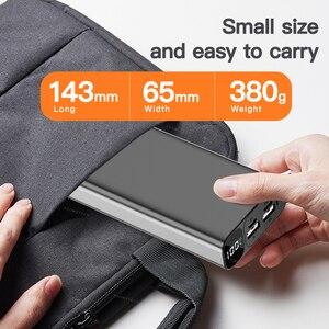 Image 4 - 20000 мАч Внешний аккумулятор 22,5 Вт Быстрая зарядка 3,0 5A повербанк внешний аккумулятор цифровой дисплей PD быстрая портативная Внешняя батарея супер быстрое зарядное устройство
