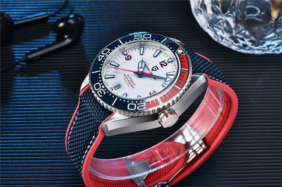 Nova moldura cerâmica relógio automático de luxo