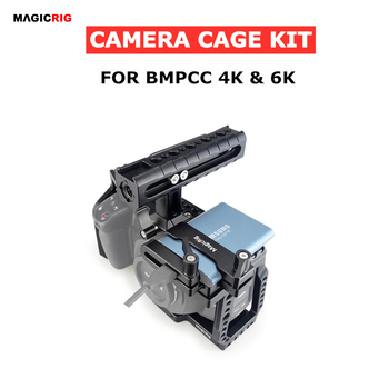MAGICRIG BMPCC 4K /6K Camera Cage with NATO Handle + T5 SSD Mount Clamp for Blackmagic Pocket Cinema Camera BMPCC 4K /BMPCC 6K