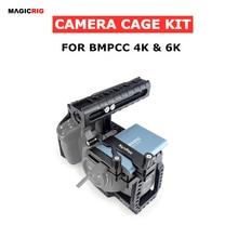 """MAGICRIG BMPCC 4K /6K מצלמה כלוב עם נאט""""ו ידית + T5 SSD הר קלאמפ עבור Blackmagic כיס קולנוע מצלמה BMPCC 4K /BMPCC 6K"""