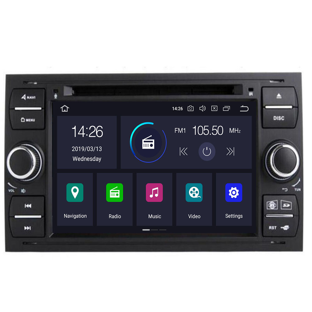 Android 9.0 8 core 4+32G Car DVD <font><b>GPS</b></font> Navigation Player Stereo Radio Audio For <font><b>Ford</b></font> <font><b>Focus</b></font> 2 Mondeo S <font><b>C</b></font> <font><b>Max</b></font> Fiesta Galaxy Connect image