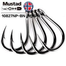 Mustad 10827np-bn 3x forte #1-12/0 jigging isca livebait ganchos sea tuna farpado gabarito gancho para a pesca de pesca grande jogo de água salgada