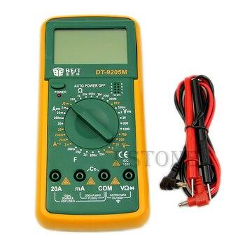 DT9205M Digital del voltímetro del multímetro ohmiómetro amperímetro capacitancia Tester LCD nueva U1JB
