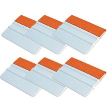 EHDIS 6pcs Soft Suede Felt Squeegee Plastic Scraper Glass Window Tint Film Water Wiper Carbon Fiber Vinyl Wrap Car Cleaning Tool