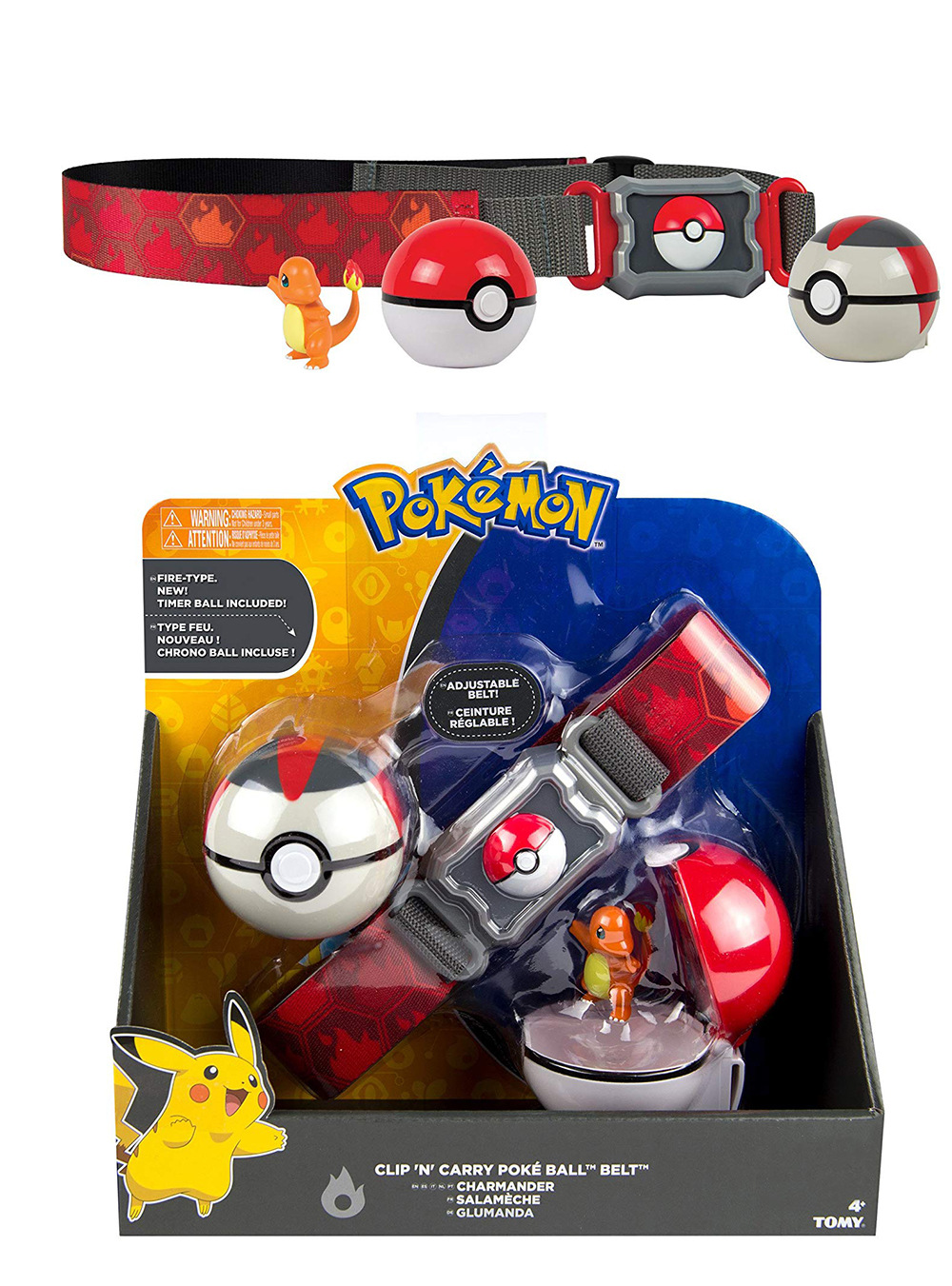 TAKARA TOMY Pokemon Toys Figures New Pokemon Belt Game for Childrne PVC Pokeball with Charizard Pikachu Bulbasaur Squirtle Figur