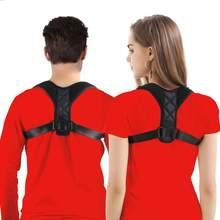 Feminino masculino postura elástica correção corretora ajustável clavícula suporte para trás premium cinta cintas ombro cinta cinto