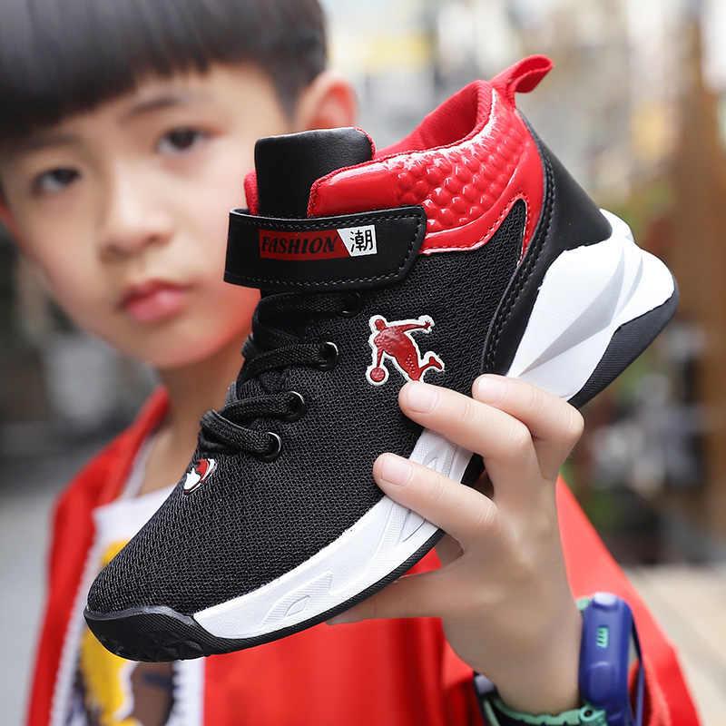 Basketball Shoes for Boys Summer New Fashion Jordan Shoes for Kids Mesh Breathable Basketball Sneaker Children Game Shoe Damping