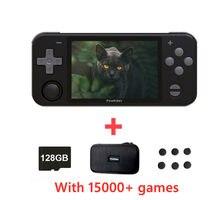 Powkiddy rgb10 handheld game console rk3326 chip 3.5 Polegada ips ps fc gb md 128g 15000 jogos de fonte aberta retro jogo jogador presente
