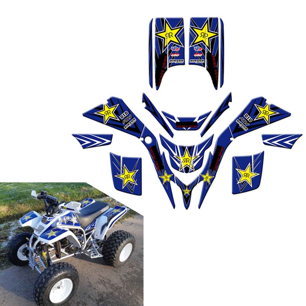 ATV Decals Stickers Graphics For Yamaha Blaster 200 YFS200 YFS 200 1988-2005 2006 Frames Ornamental Wrap Full Race Kits Pegatina