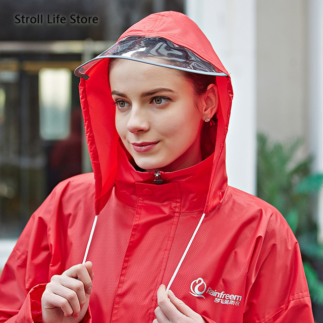 Adult Raincoat Set Men and Women  Motorcycle Electric Car Red Blue Rain Coat Poncho Jacket Double-Layer Nylon Waterproof Gift 3