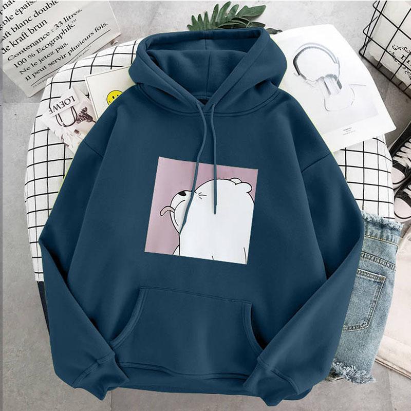 Hoodies oversized print Kangaroo Pocket Sweatshirts Hooded Harajuku Spring Casual Vintage Korean Pullovers Women sweetshirts 2