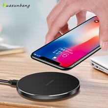 Qi Wireless Charger 10W Wireless Charger Aluminum Alloy Ultra Thin Wireless Charger For Samsung S9 S10 Xiaomi Mi 9 10 Huawei P30
