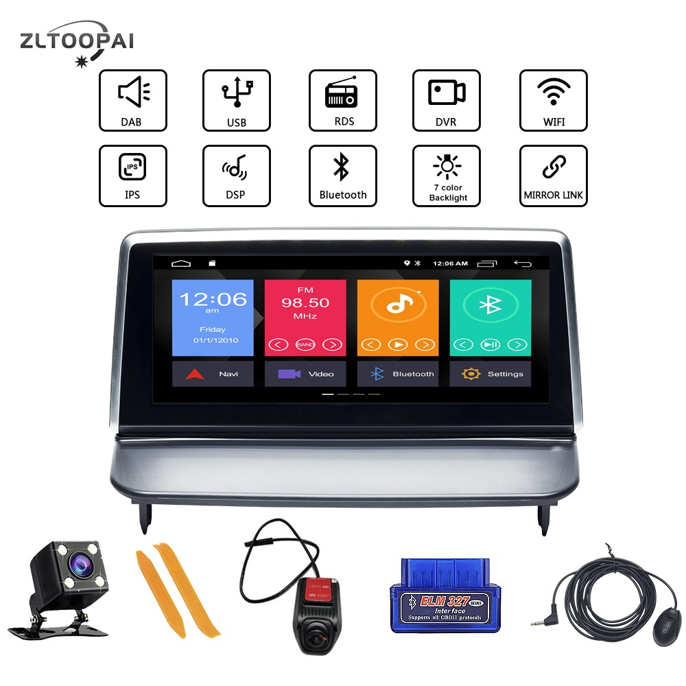 Professional Android 10 Car Multimedia Player Auto <font><b>Radio</b></font> GPS Navigation For <font><b>VOLVO</b></font> <font><b>S40</b></font> C30 2006-2012 Car Player 4Core 2GB+16GB image