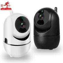 Cámara IP de seguridad para el hogar, 1080P, HD, inalámbrica, Wifi, tarjeta SD, almacenamiento en la nube, Audio bidireccional, IR, visión nocturna, CCTV, Monitor para bebés