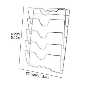 Image 2 - Behogar パンポットカバー保持収納ラックツール家庭の台所スペースを節約パンふたオーガナイザー金属防錆ポットカバーホルダー