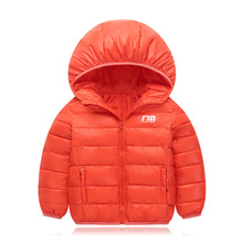 2-8Y Autumn and winter new Plush and velvet warm Baby Girl Boy Winter Printing Letter M Coat Jacket Thick Warm Outerwear Clothes все цены