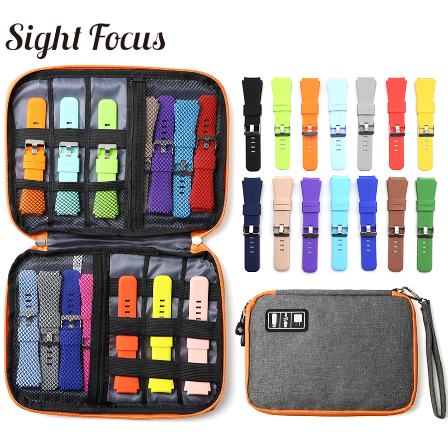 Portable Watch Strap Storage Watch Band Box Watchband Case For Apple Watch Band Organizer Box Bag Travel Watch Pounch Gray Red