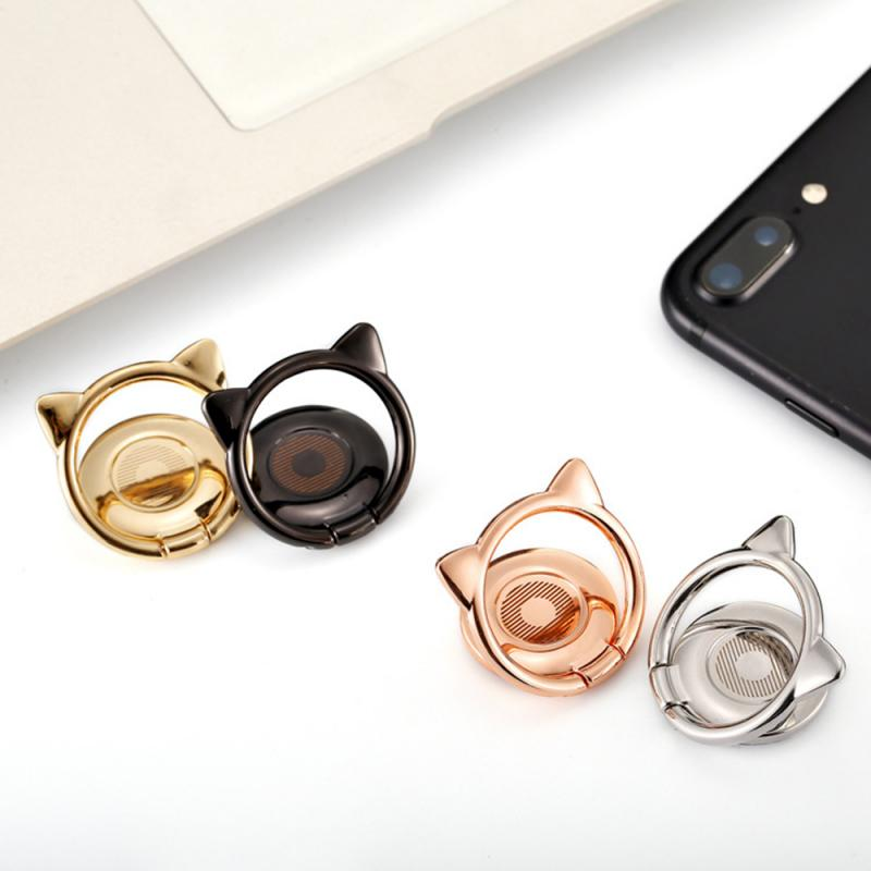Luxury Metal Mobile Phone Ring Holder Magnetic 360-degree Car Bracket Socket Telephone Ring On The Phone Stand For Mobile Phone
