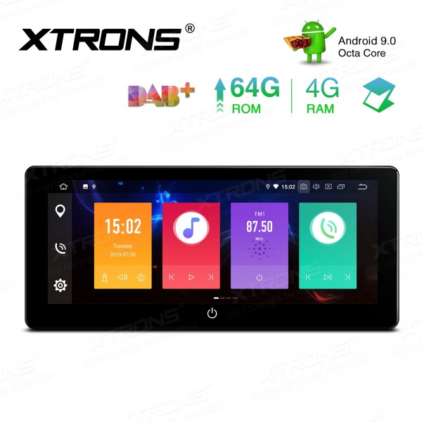 10.25 ''IPS Android 9.0 Octa Core 4G + 64GB universel 2 Din PX5 4G RAM 64GB ROM lecteur multimédia stéréo Radio Navigation GPS