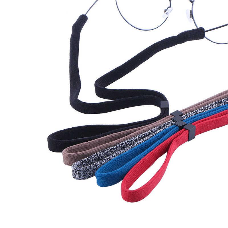 Moda cabo óculos de sol antiderrapante óculos corda cordão esporte óculos cor pura pescoço pendurado corrente feminino óculos jóias