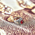 SUNSPICE MS. böhmen Retro Vintage Silber Farbe Rot Natürliche Steine Ringe Für Frauen Ethnische Hochzeit Jewerly Alte Männer Ring Geschenke