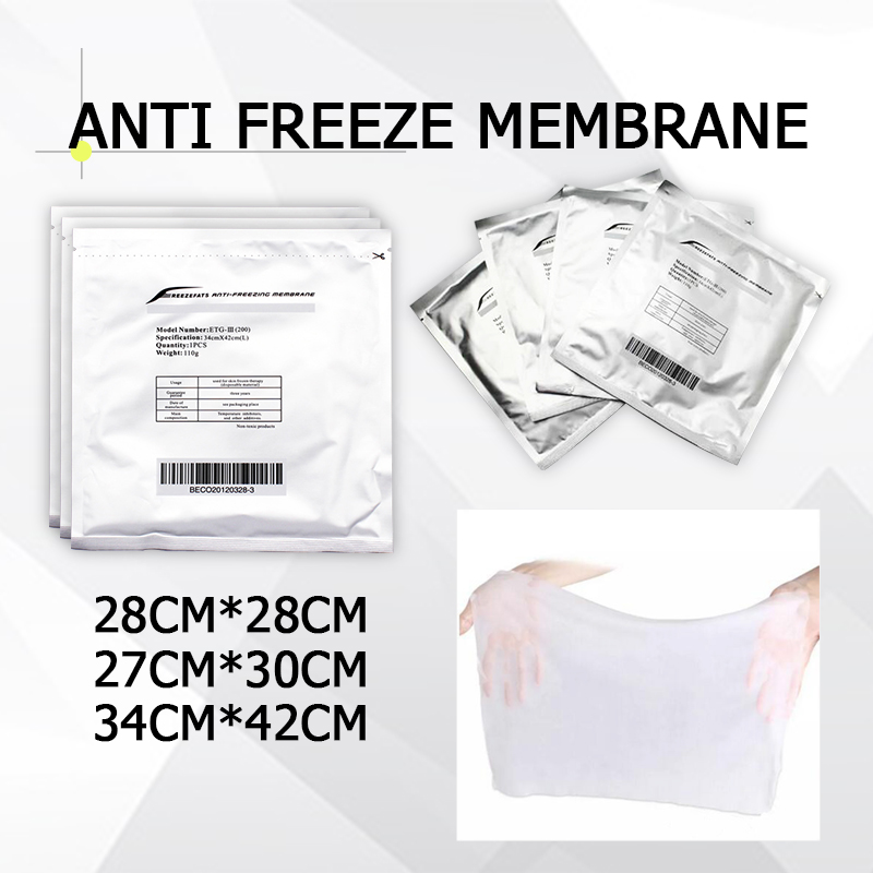 100% Effect New Arrival Lowest Price Anti Freeze Membrane 27*30cm 34*42cm 28*28cm Antifreeze Membrane Cryo Pad 10pcs