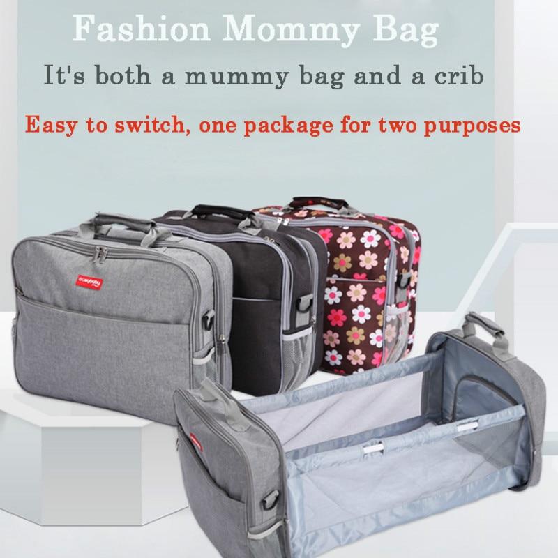 Baby Bed Diaper Bag Backpack For Mom Expecting A Baby Cadeirinhas Para Bebe Carro Dining Chair High Capacity Large Travel Bag