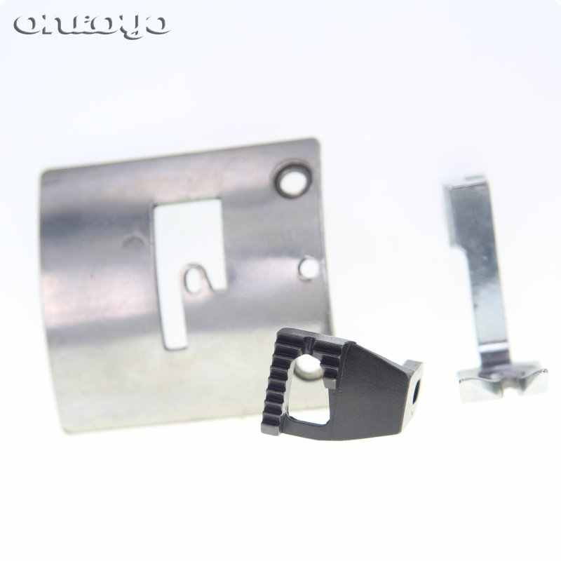 1SET Needle Plate AND  Feed Dog FIT FOR SINGER 45K GA5-1 Leather Sewing Machine