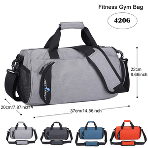 Image 3 - Waterproof Sports Gym Bags, Multifunction Dry Wet Separation Bags, Fitness Training Yoga Shoulder Bag With Shoes Bags 3 Colors