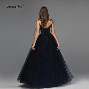 Image 3 - אדום ללא שרוולים סקסי אונליין ערב שמלות עיצוב 2020 ואגלי שכבות טול ערב שמלות ארוך תמונה אמיתית LA70164