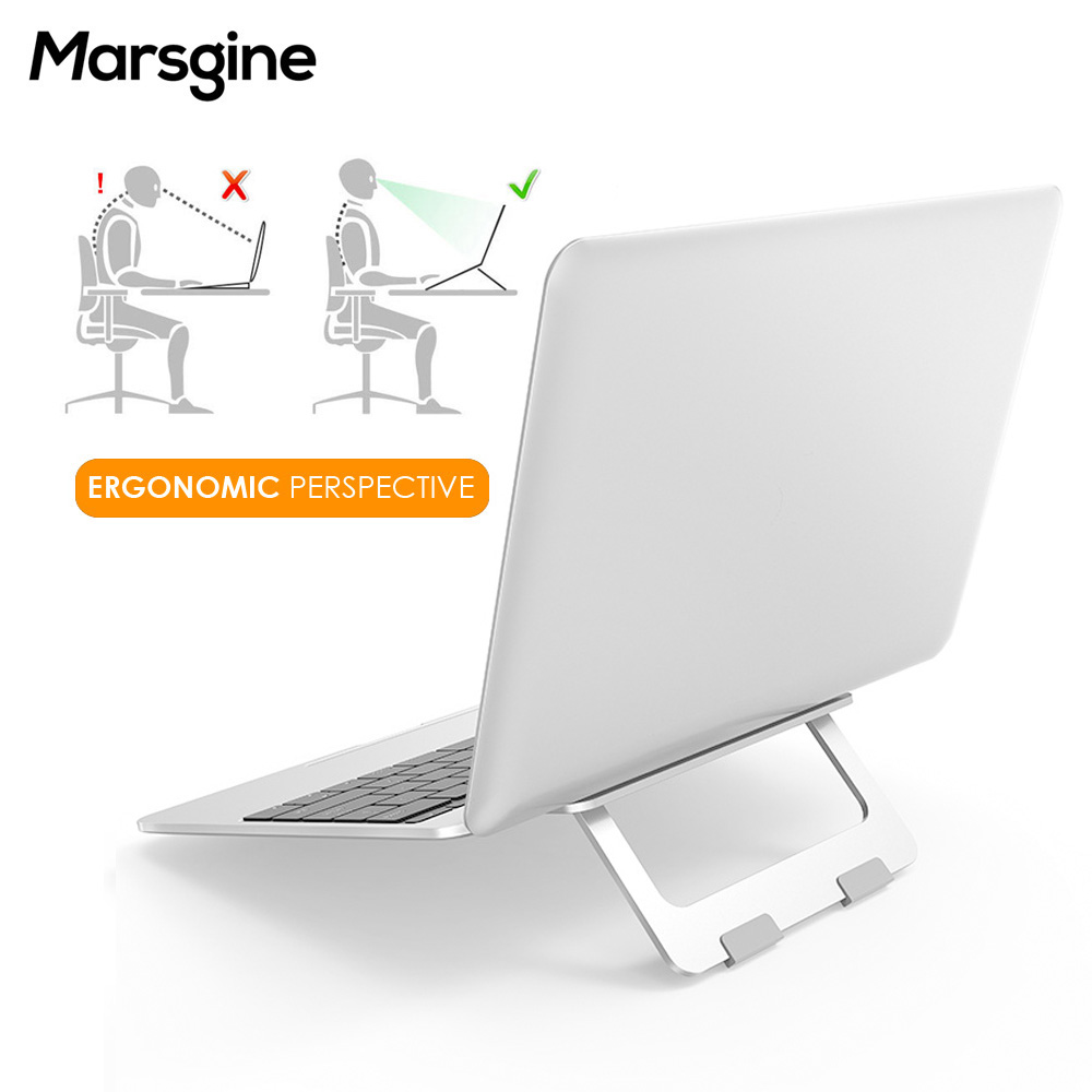 Foldable Laptop Stand Aluminum Desktop Adjustable Notebook Holder Desk Laptop Stand For 7-15 Inch Macbook Pro Air
