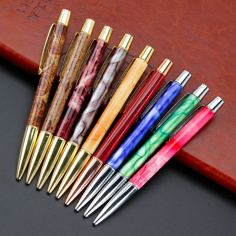 Metal Ballpoint Pen New Office Stationery Creative Gyration Ballpoint Pen