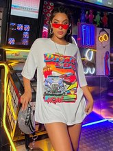 sunfiz YF DreamCar T Shirt Casual Short Sleeve Black T-shirts Cute Tees Long Graphic Tops Womens Tees Tops Female Summer Tees