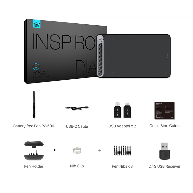 Huion Inspiroy Dial Q620M Wireless Graphic Tablet 11