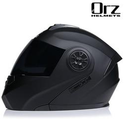 Motorcycle Helmet Full Face Racing Motorbike Helmet With Double Sun Visor Women Man Flip Up Moto Helmets