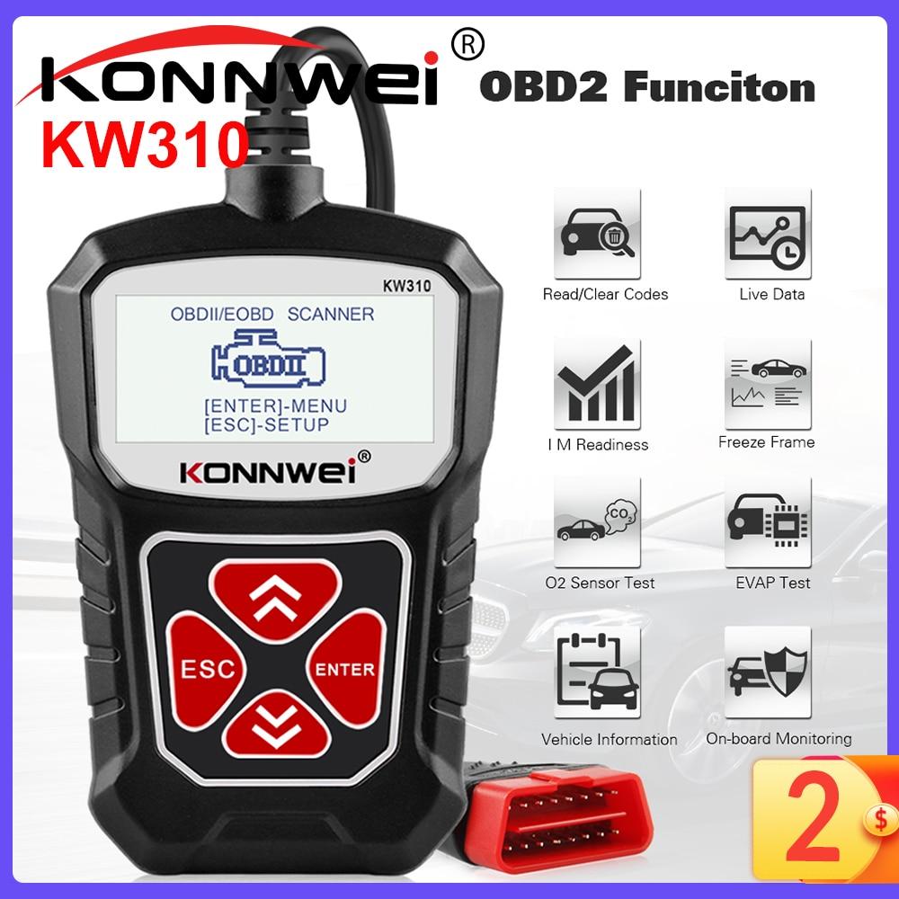 KONNWEI KW310 OBD2 Scanner for Auto OBD 2 Car Scanner Diagnostic Tool Automotive Scanner Car Tools Russian Language PK Elm327