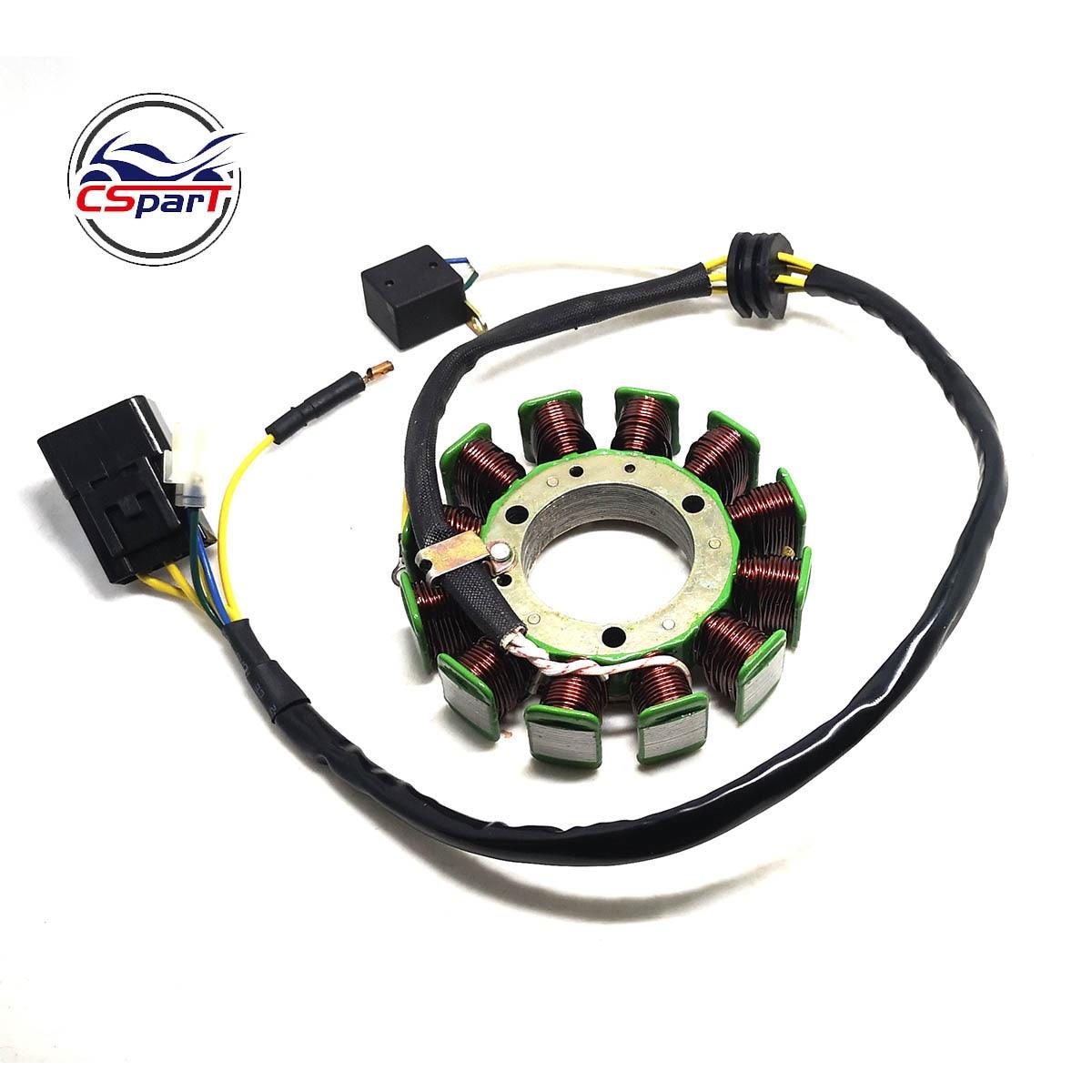 12 катушек 6 проводов 115 мм обмотка статора магнита для Kazuma XinYang Jaguar 500 500CC ATV Quad Parts